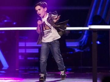 Daniel García canta 'El patio' en los Asaltos de 'La Voz Kids'
