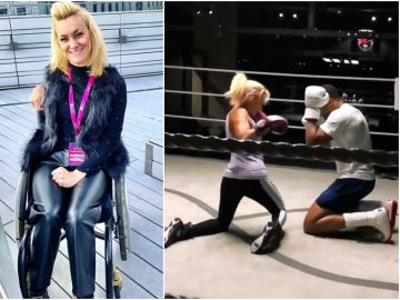 Kate Farley cumple su sueño y pelea contra Anthony Joshua