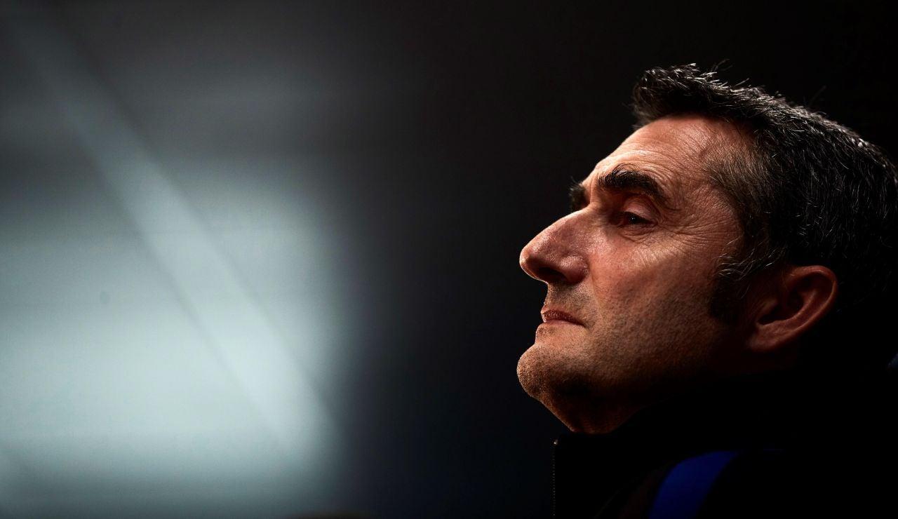 Valverde en la rueda de prensa previa al Borussia de Dortmund