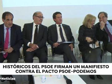 Históricos del socialismo firman un manifiesto contra la coalición entre PSOE y Podemos