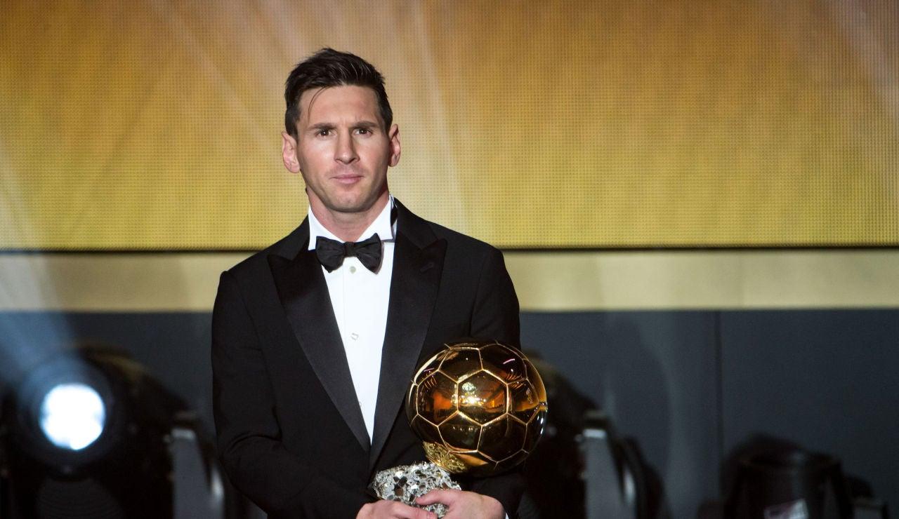 Leo Messi, ganador del Balón de Oro en 2015
