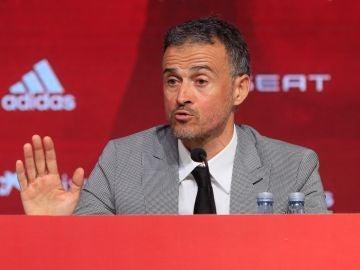 Luis Enrique, en su presentación con la selección española