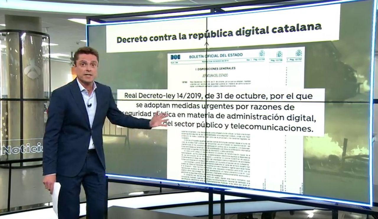 PP y Ciudadanos salvan el decreto del Gobierno contra la república digital catalana
