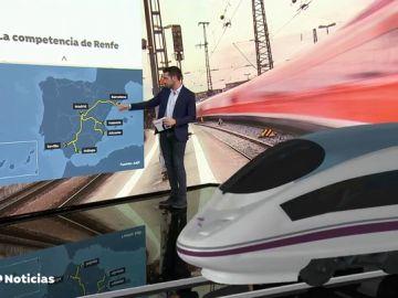 Renfe tendrá que competir en las vías españolas con los operadores públicos italiano y francés