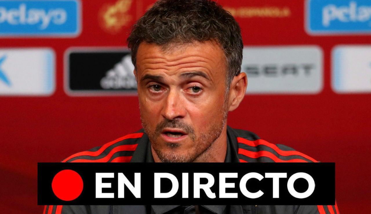 Presentación de Luis Enrique como nuevo entrenador de la Selección Española, en directo