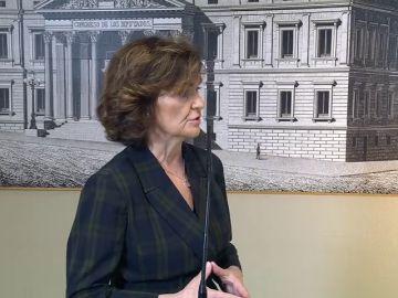 Carmen Calvo: 'El PSOE no va a hablar en ningún caso del derecho de autodeterminación con los independendistas'