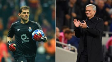 Iker Casillas y José Mourinho
