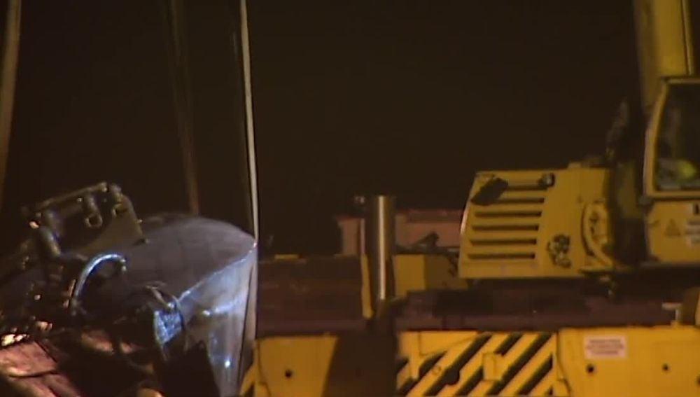 El narcosubmarino reflotado en Galicia