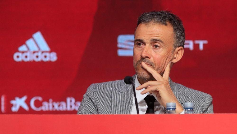 Luis Enrique, en su presentación en Las Rozas