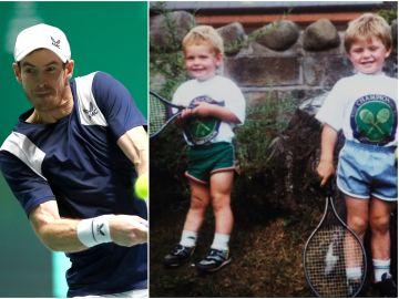 Murray de niño junto con su hermano Jamie