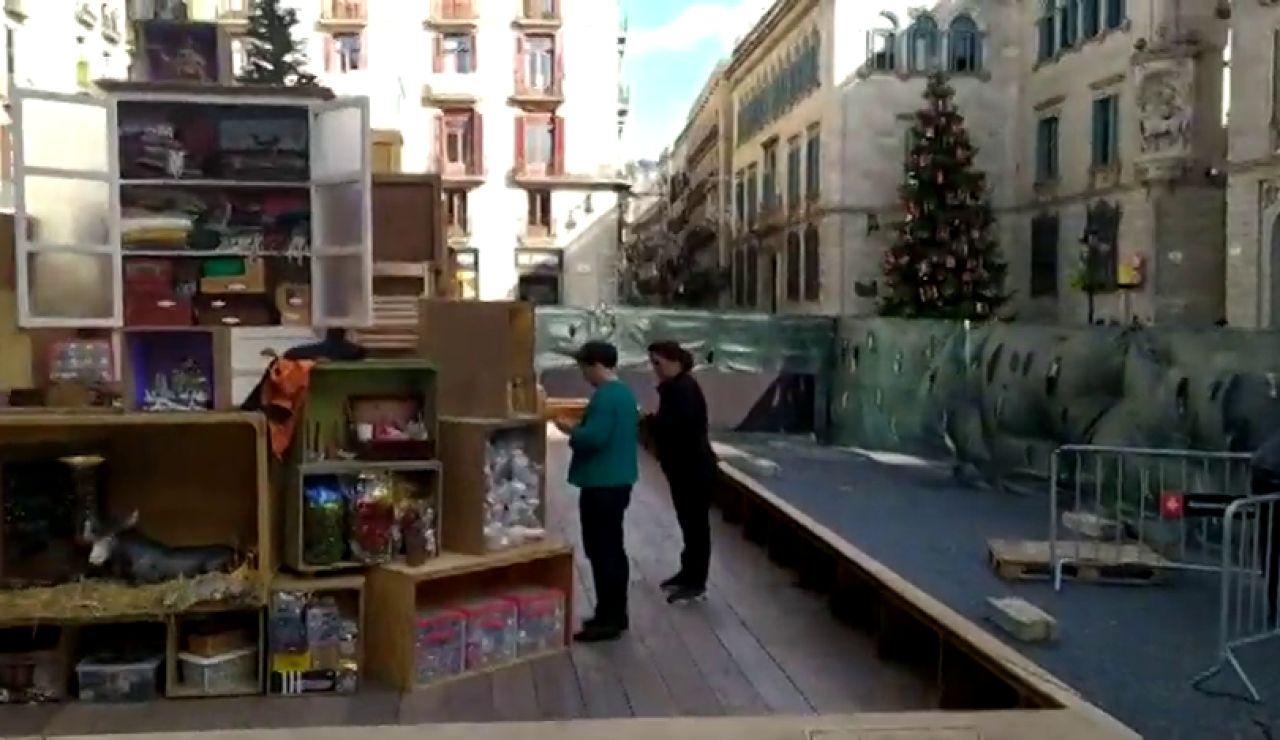 Polémica en el Ayuntamiento de Barcelona al  convertir el Belén en un trastero