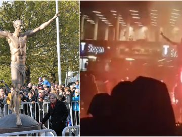 Radicales atacan la estatua de Ibrahimovic en Malmoe