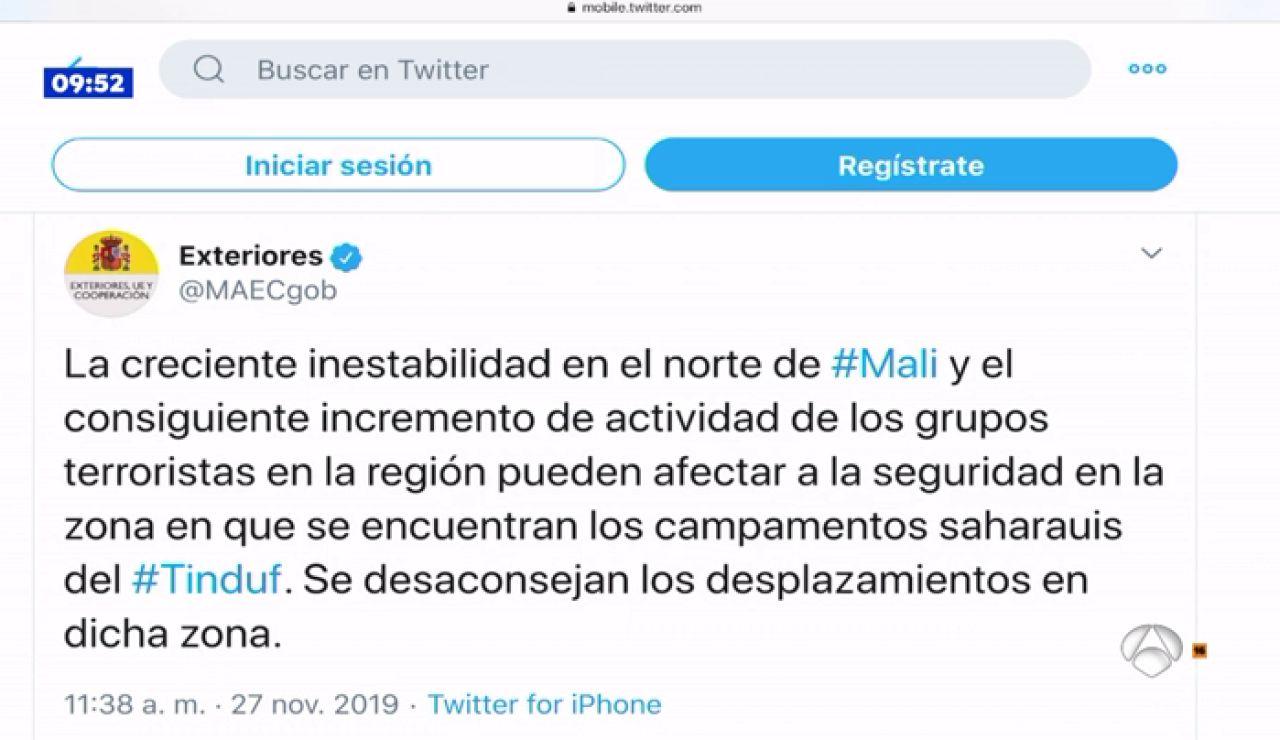 Exteriores alerta del riesgo de atentado contra españoles en los campamentos del Sáhara