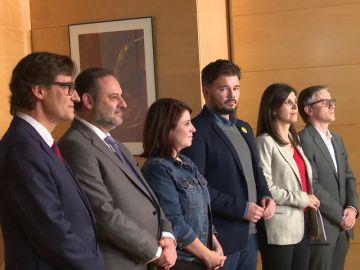 Comienza la reunión entre PSOE y ERC