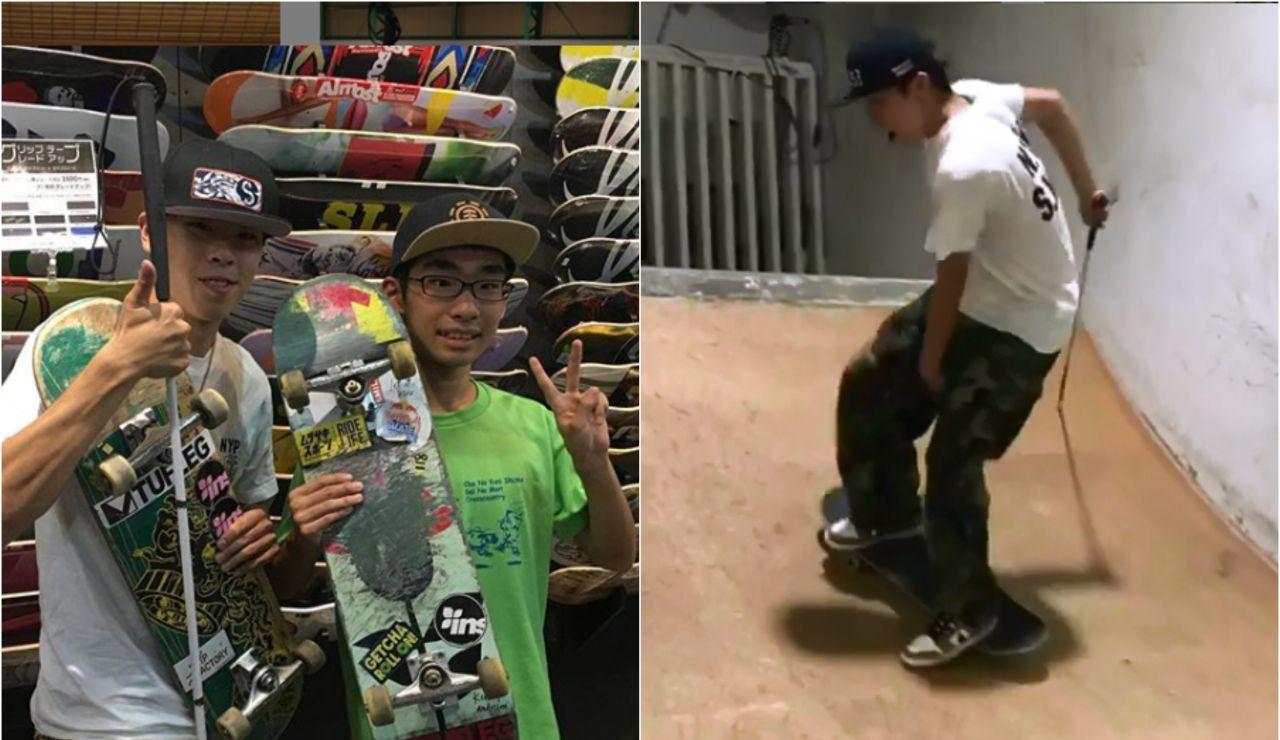El 'skater' ciego que se ha hecho viral en redes sociales