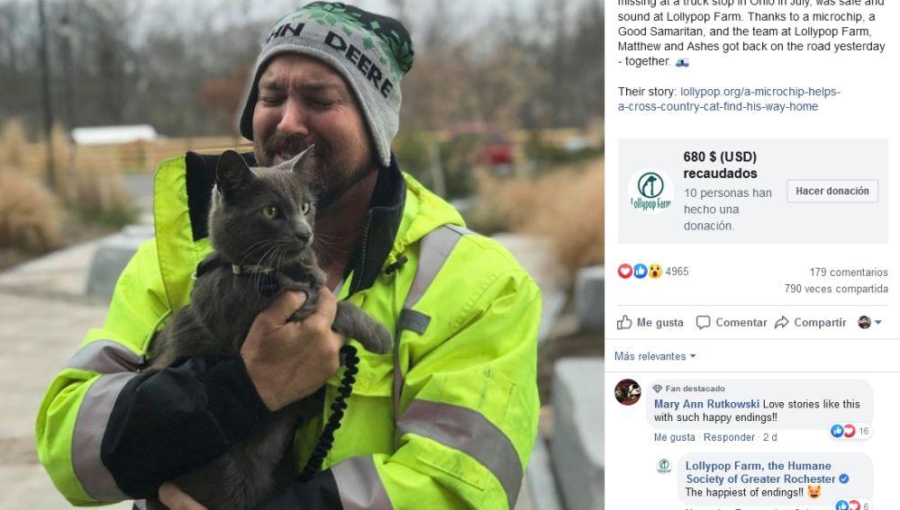 Encontraron a su gato perdido