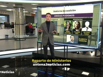 Veinte ministerios y cuatro para Podemos, el reparto de Gobierno entre Sánchez e Iglesias