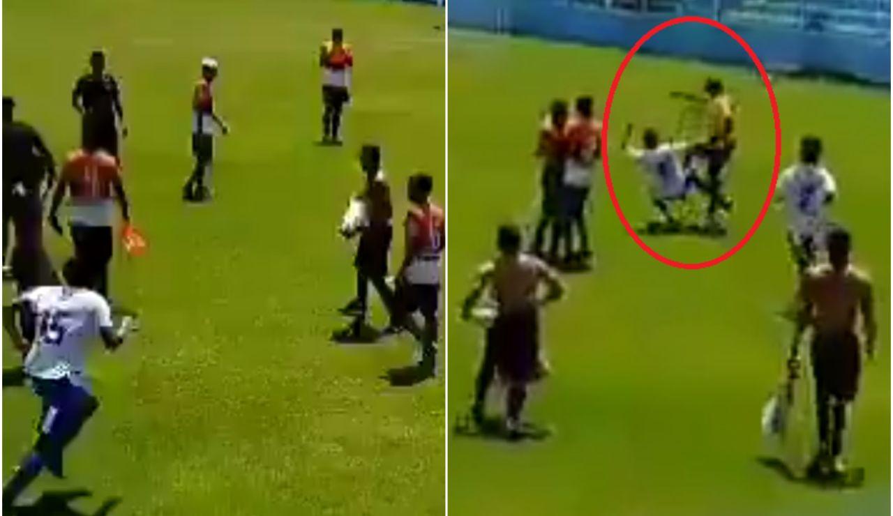 Agresión a un árbitro en Brasil