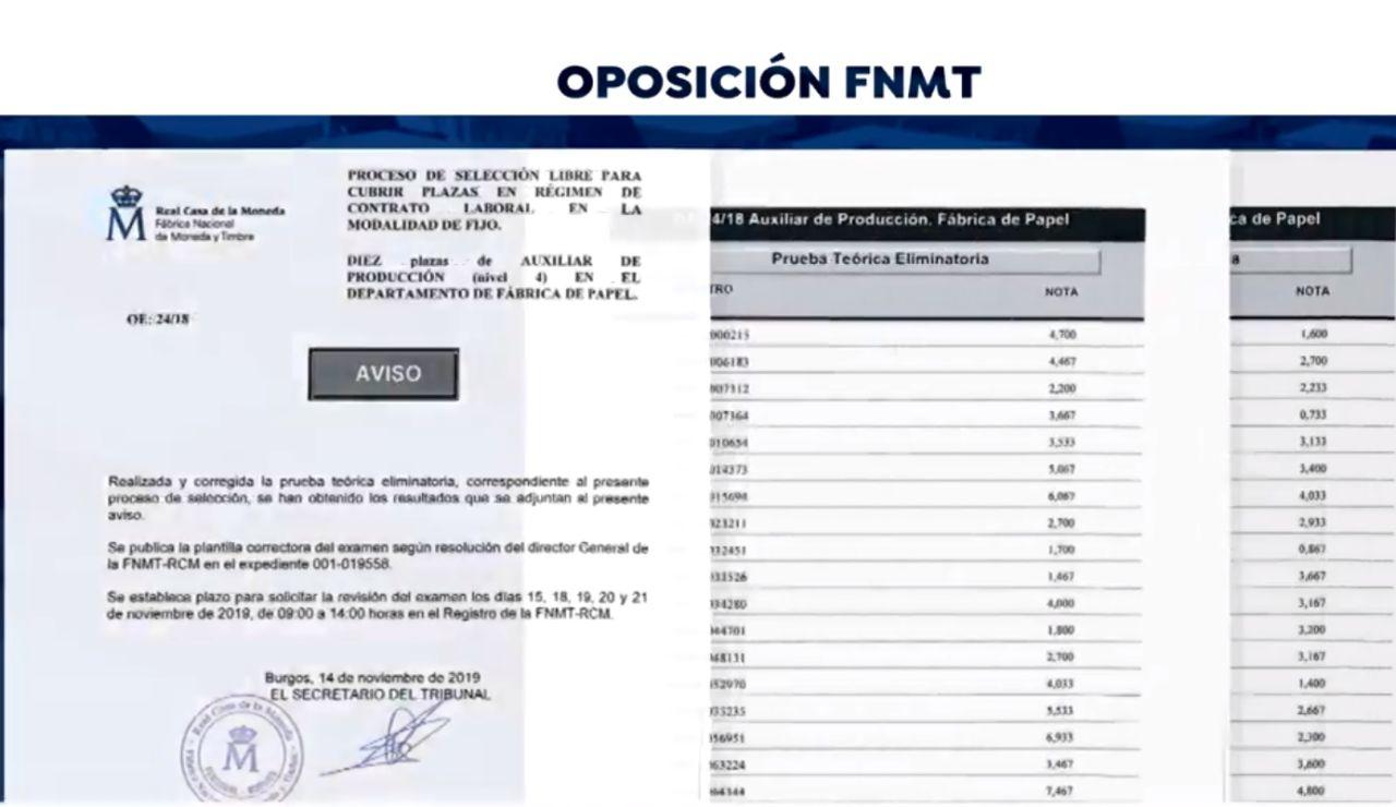 Oposición Fábrica Moneda y Timbre