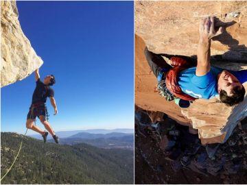 Brad Gobright durante sus retos de escalada