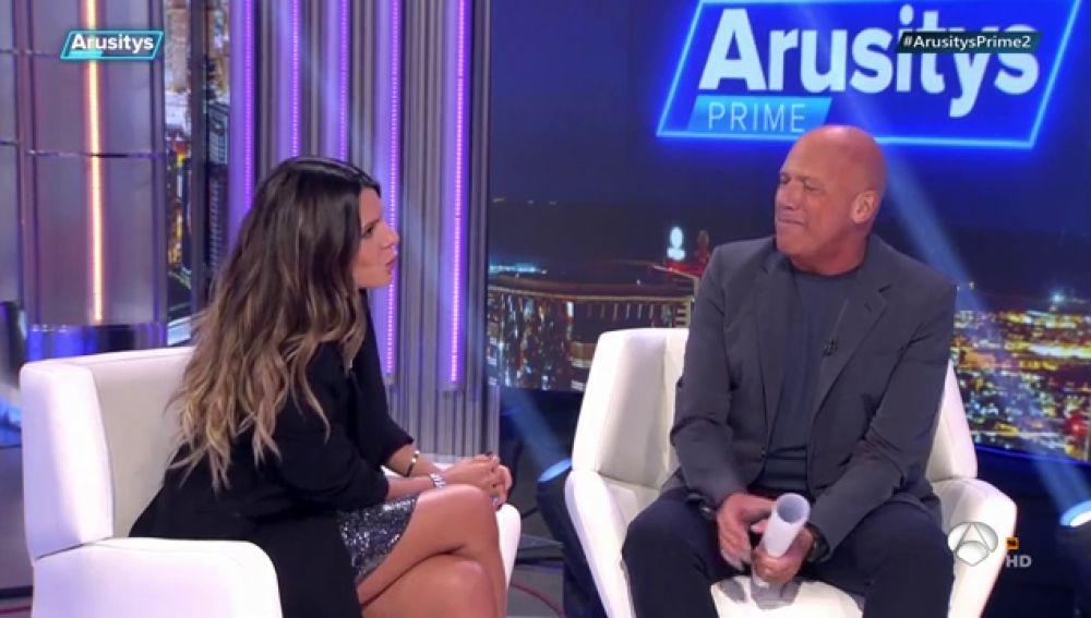 Laura Matamoros desmiente en 'Arusitys Prime' que haya vuelto con Benji Aparicio