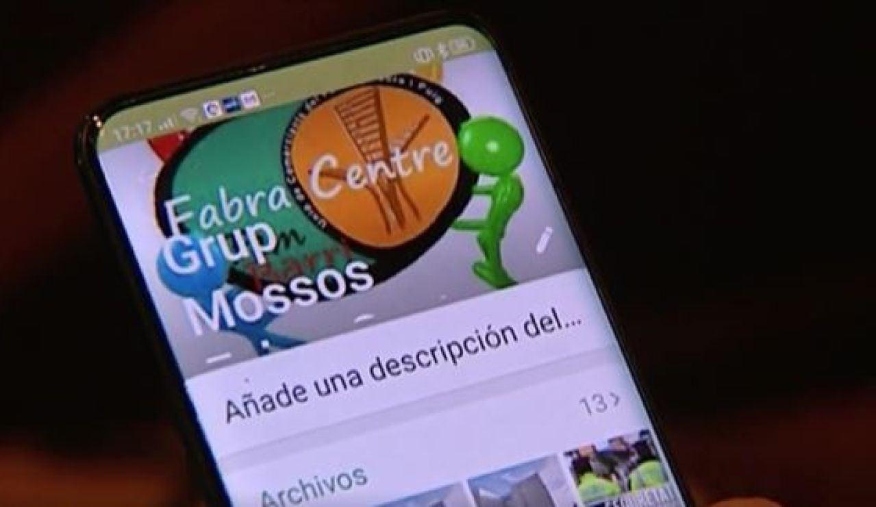 El chat 'antirrobo' que comparten policías y comerciantes en Barcelona