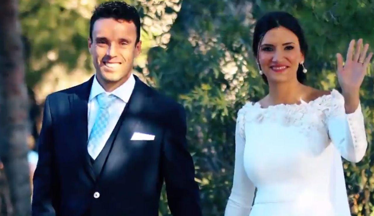 Roberto Bautista durante su boda