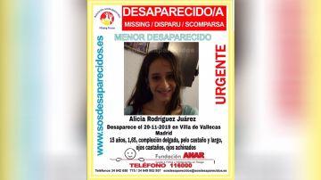 Alicia Rodríguez Juárez desaparecida