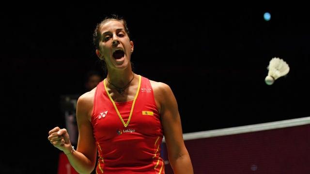 Carolina Marín celebra su triunfo