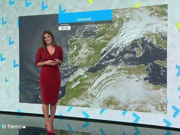 El lunes continuará el tiempo inestable en España