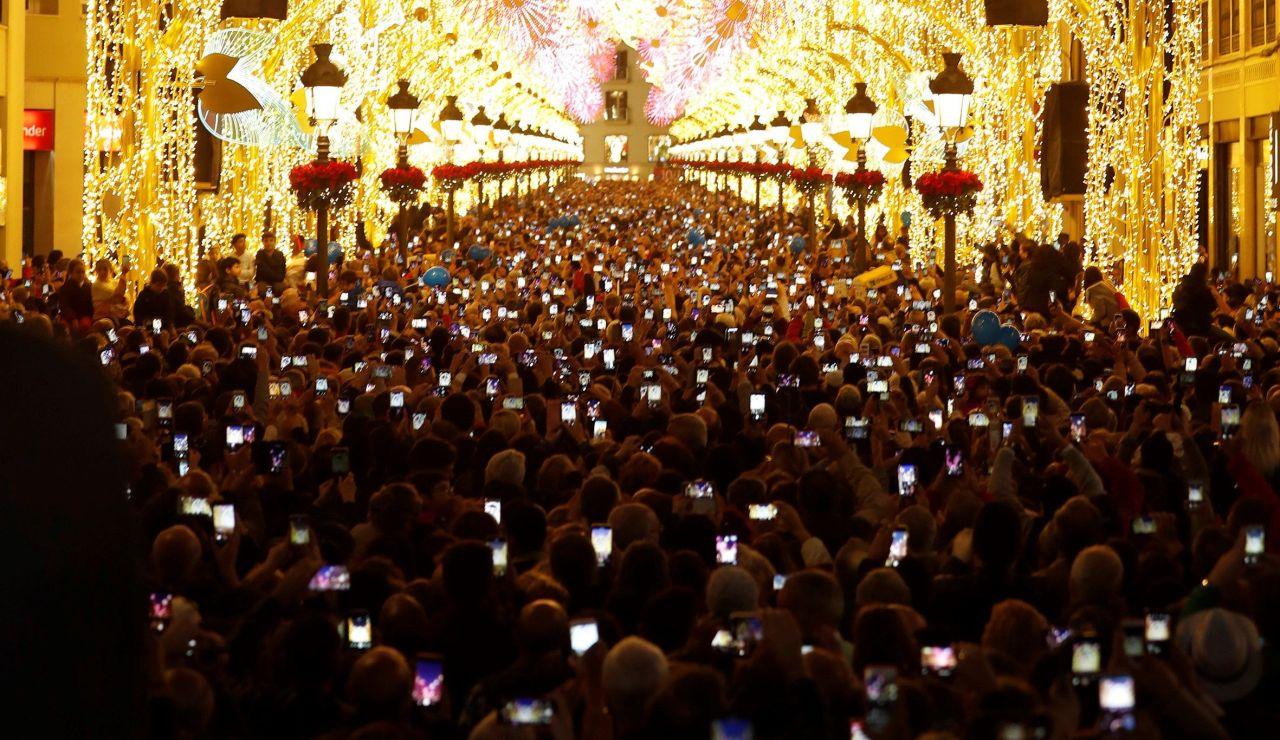 Encendido del Alumbrado Navideño de Málaga