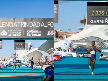 Los dos vencedores de la maratón