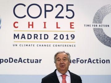 Antonio Guterres en la Cumbre del Clima de Madrid