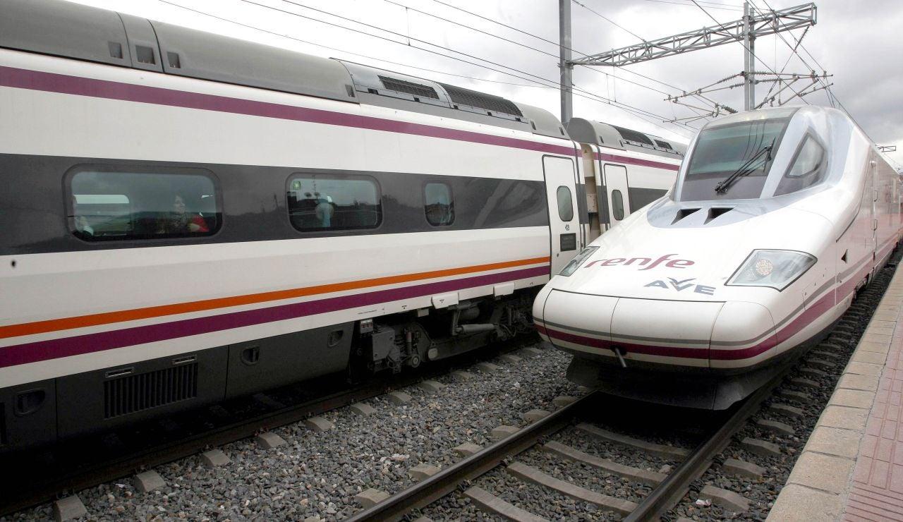 Llegada de un tren AVE a la Estación Campo Grande de Valladolid
