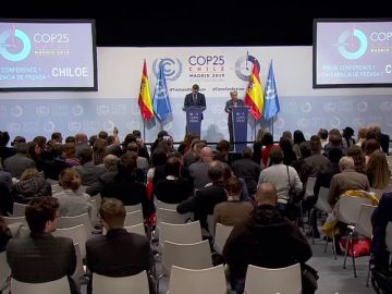 Queja en la rueda de prensa de Sánchez y el secretario de la ONU por no poder preguntar todos los periodistas