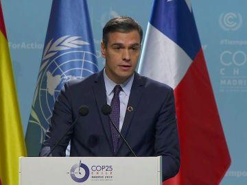 Pedro Sánchez, en la Cumbre del Clima