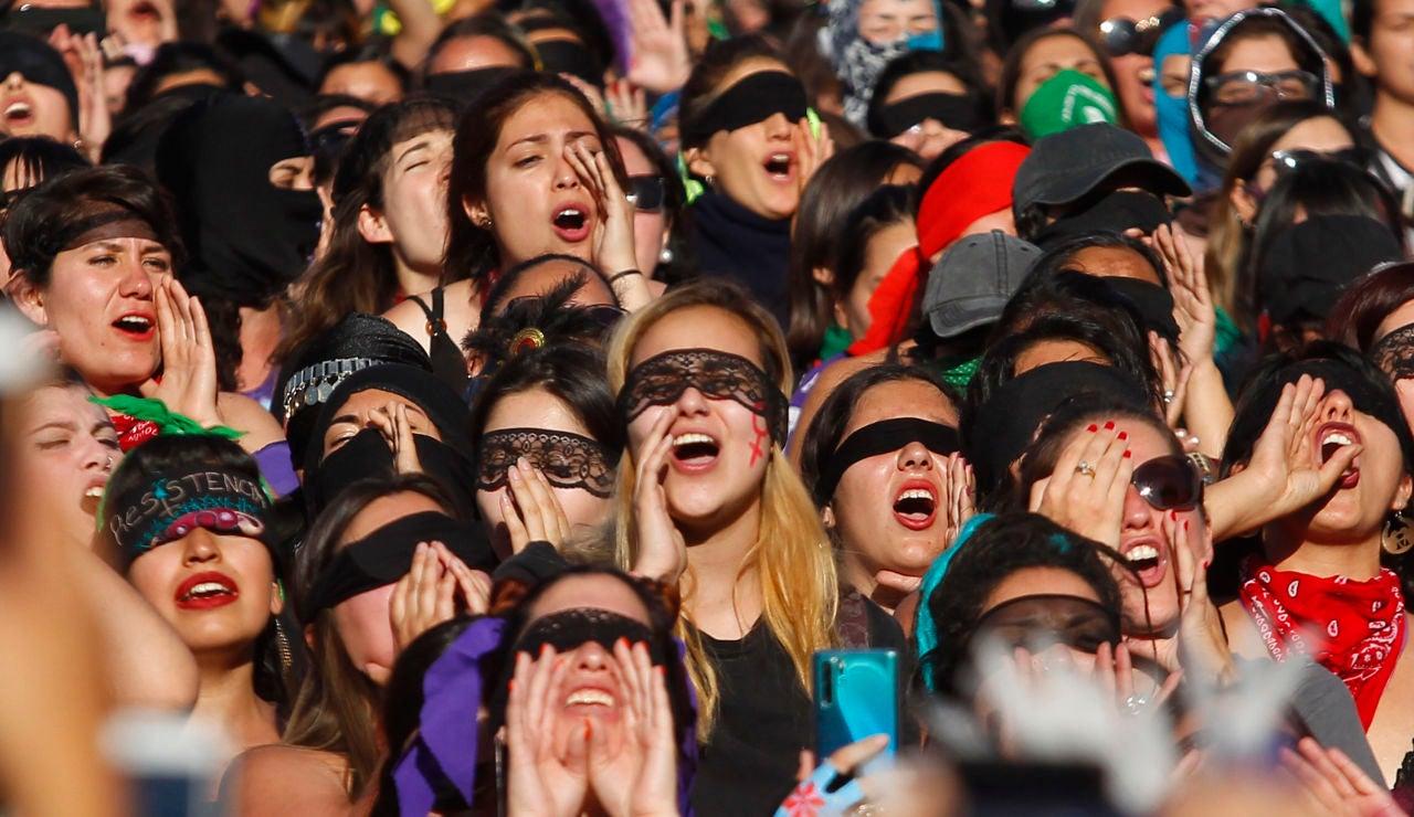 Protesta contra las agresiones sexuales en Chile
