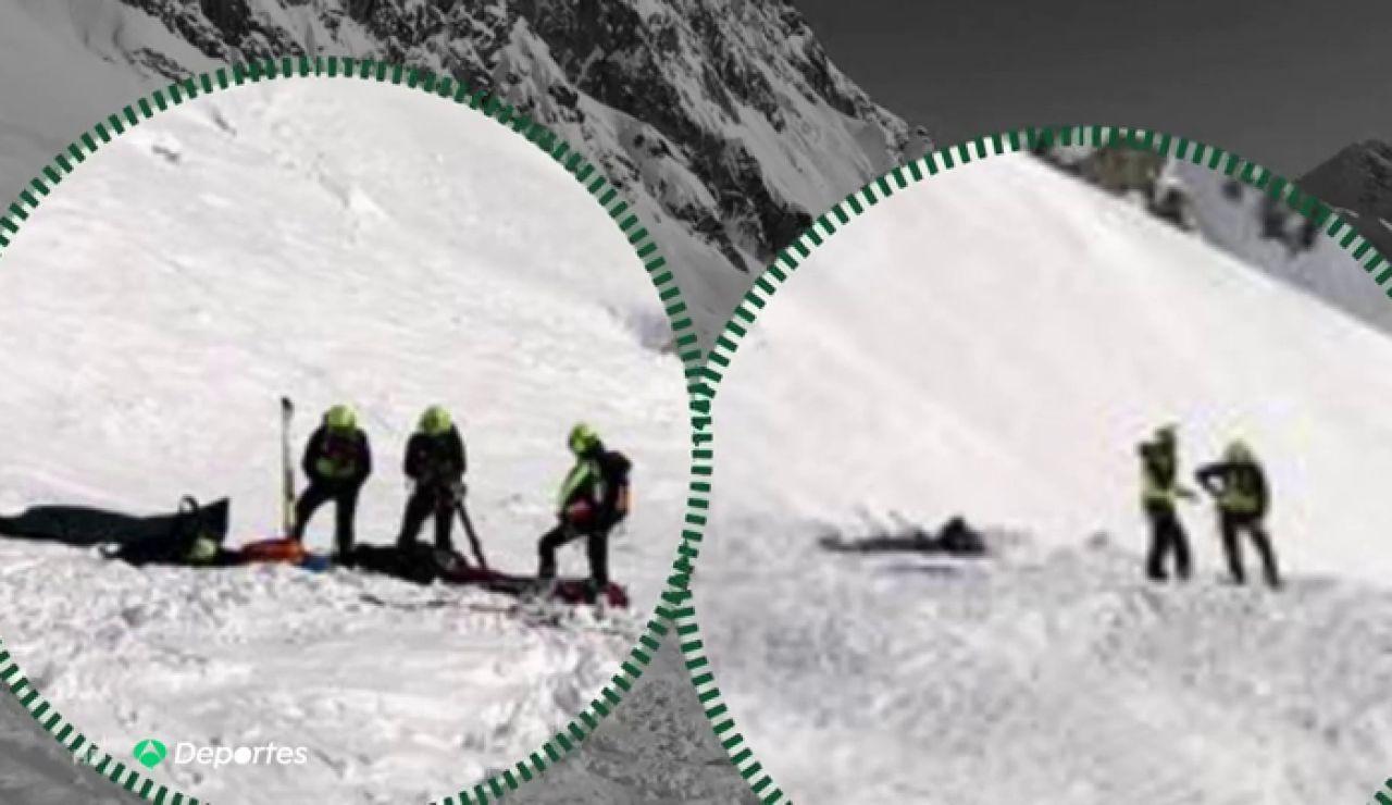 Mueren dos esquiadores italianos en Mont Blanc tras ser alcanzados por una avalancha de nieve