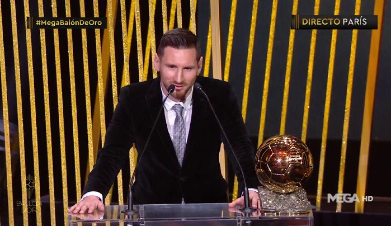 """Messi, tras recibir su sexto Balón de Oro: """"Se acerca el momento de la retirada"""""""