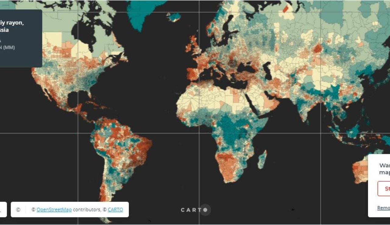 Mapa interactivo lluvias