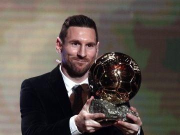Messi, con el Balón de Oro