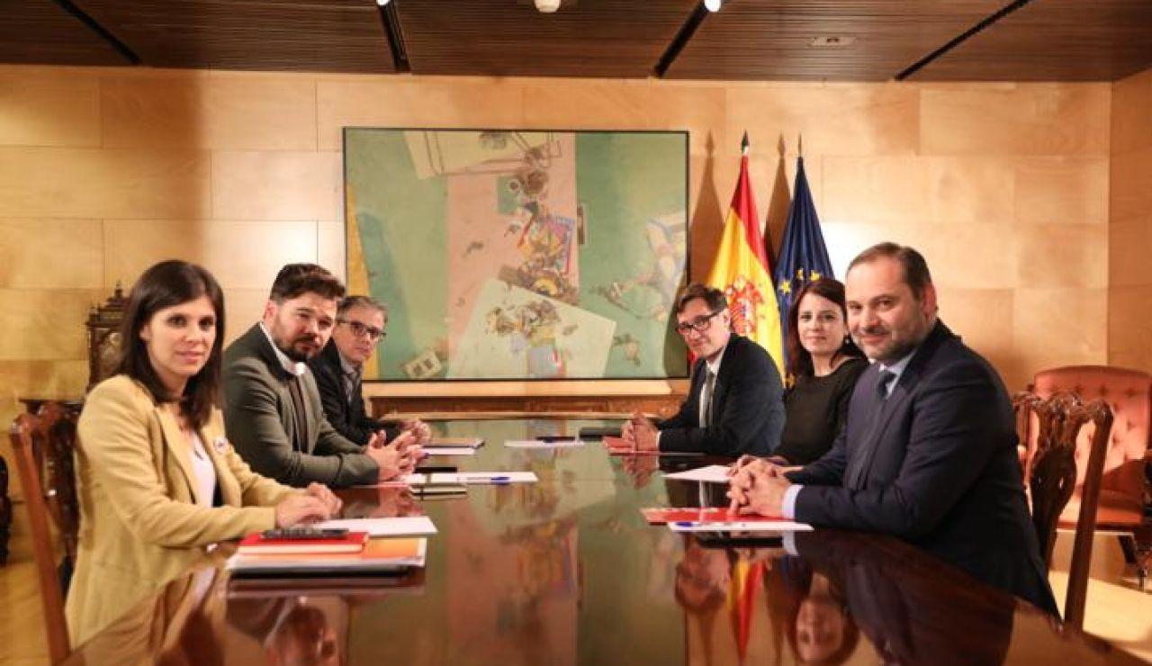 Reunión PSOE ERC