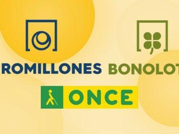 Resultado Loterías hoy: Sorteos de Euromillones, Bonoloto y Cupón Diario de la ONCE