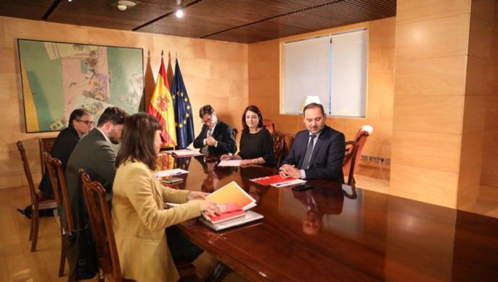 Reunión ERC-PSOE