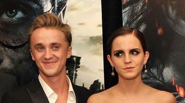 Tom Felton y Emma Watson