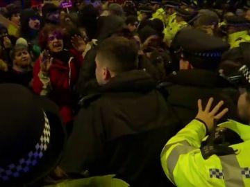 Cientos de personas se manifiestan en Londres contra Boris Johnson