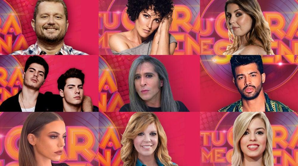 Los concursantes de la octava edición de 'Tu cara me suena'