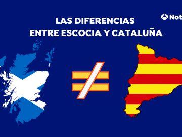 Las diferencias entre Escocia y Cataluña