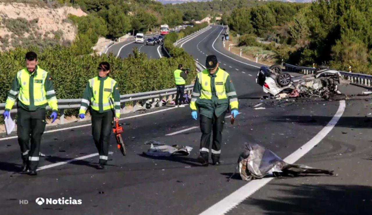Un kamikaze provoca un accidente múltiple con dos muertos en la A-7, a la altura de Alicante