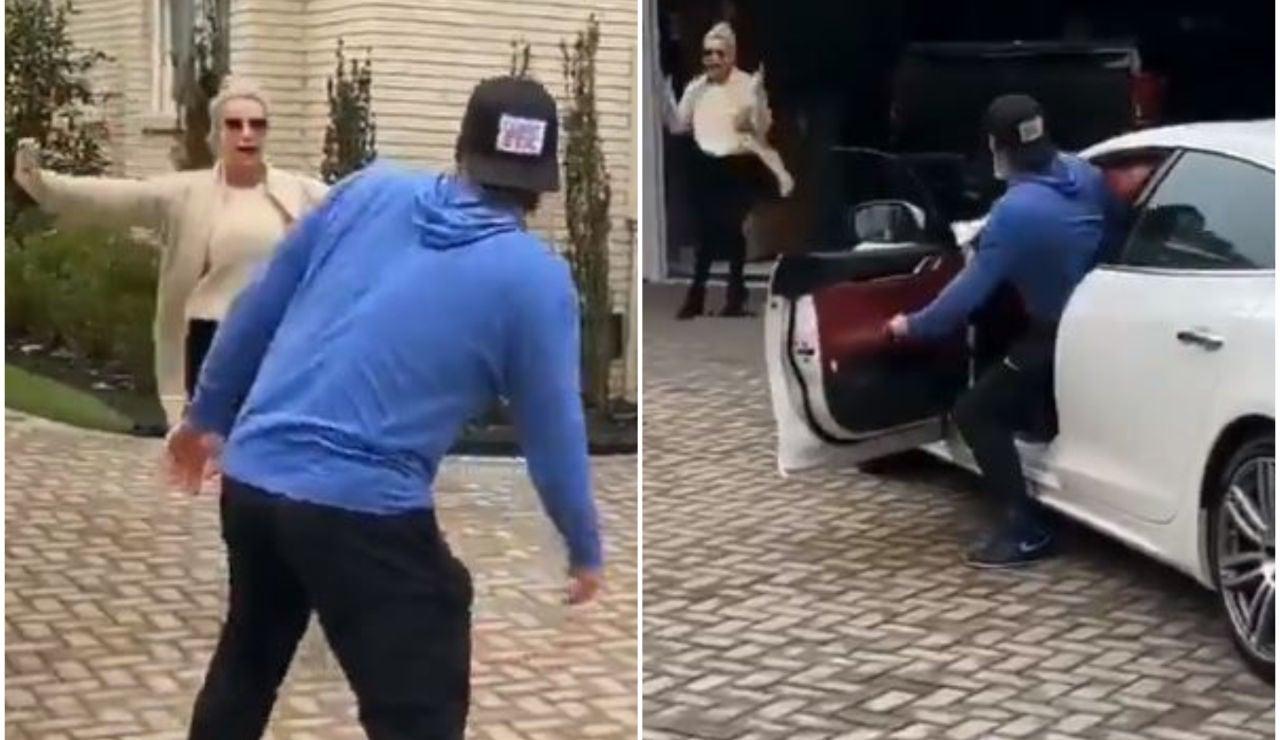 Josh Donaldson le regala un Maserati a su madre